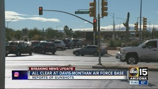 All clear given at Davis Monthan Air Force base after lockdown