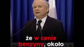 J. Kaczyński: Nie trzeba być kierowcą, żeby wiedzieć, że benzyna stała się b.droga! | Hipokryzja PiS