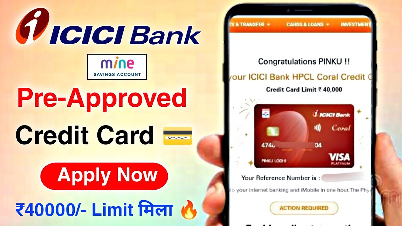 ICICI Bank Pre-Approved Charge card Apply|icici bank mine account charge card thumbnail