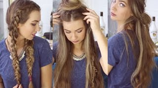 3 QUICK AND EASY BOHO HAIRSTYLES // Cute Heatless Hairstyles