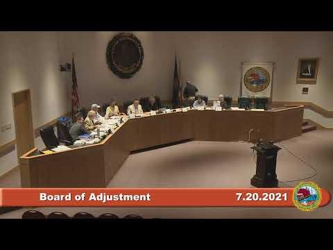 7.20.2021 Board of Adjustment