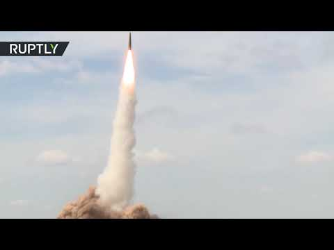 Russian Iskander tactical missile systems hit mock enemy targets