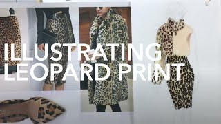 Fashion Illustration Tutorial: Leopard Print 5 Different Ways