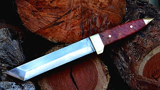 Knife Making  Making A Japanese Tanto Fighting Knife