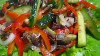 Салат с Овощами и Мясом/Его первым сметут гости со стола!