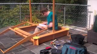 Lidl Playtive Junior Sandbox Assembly / Sandkasten Zusammenbau Bau Bauen