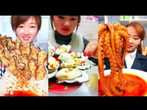 ăn bạch tuộc ' ăn cua alaka | Ăn Bạch Tuộc Sống |