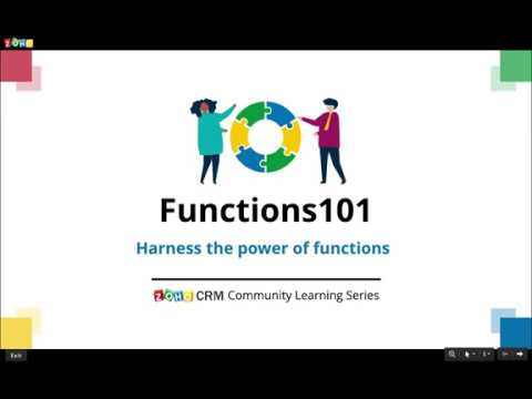 Functions101 - Getting started with Zoho CRM functions - YouTube