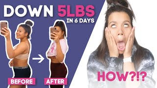 HOW I LOST 5LBS IN ONE WEEK WORKING OUT LESS! (LOSE WEIGHT FASTER TIPS)