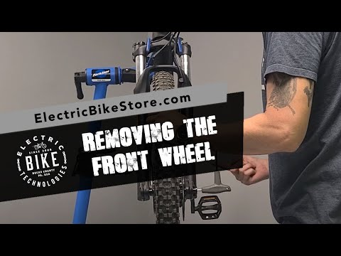 Electric Bike Technologies | How-To Remove a Front Wheel Off a Mountain eBike