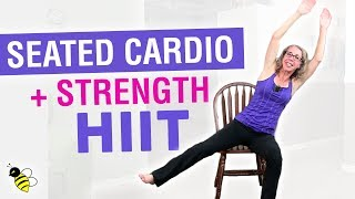 High Intensity SEATED CARDIO + Bodyweight STRENGTH | 25 Minute Full Length HIIT Home Workout by Pahla Bowers