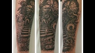 Rhiannon S Journey In Life Clock  Tattoo  By Fluntboy (time Lapse Tattoo)
