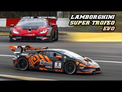 Lamborghini Huracán Super Trofeo Evo - Downshifts, flames & V10 scream