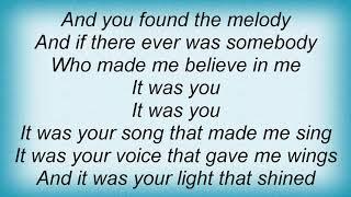 Garth Brooks - It's Your Song Lyrics