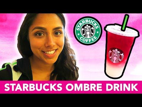 STARBUCKS OMBRE PINK DRINK TASTE TEST! 💕