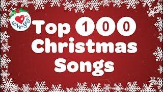 Top 100 Christmas Songs and Carols Playlist with Lyrics 🎅