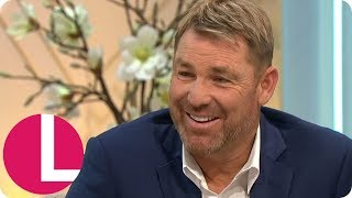 Shane Warne Says Being With Elizabeth Hurley Was The Happiest Time Of His Life | Lorraine