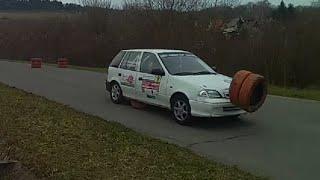 preview picture of video 'A123 Teszt rallye 2015 03 22 Orfű Abaligeti bekötő út. 2'