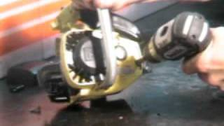 The chainsaw guy takes the McCulloch Mini Mac Chainsaw Challenge  9 23.AVI