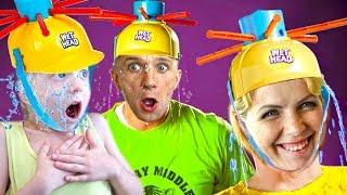 ЧЕЛЛЕНДЖ МОКРАЯ ГОЛОВА Extreme Wet Head Challenge кто уйдет весь мокрый Веселое видео для детей