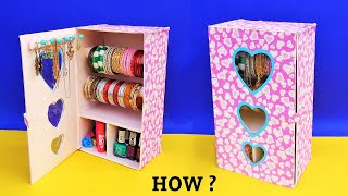 How To Make Bangle Stand At Home With Waste Shoebox   Best Out Of Waste   Diy Jewellery Organizer