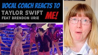 Vocal Coach Reacts to Taylor Swift - ME! ft. Brendon Urie LIVE - The Voice 2019
