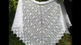 Prairie Rose Lace Shawl. Мастер-класс кайма и зубчики.