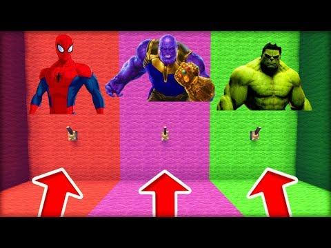 NEVYBER SI ŠPATNOU PÁKU DO SKRYTÉ ZÁKLADNY! (Spiderman, Thanos, Hulk)