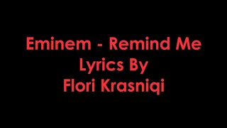 Eminem - Remind Me [Lyrics]