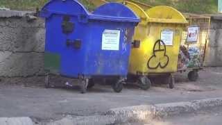Патриотические мусорные баки во Львове