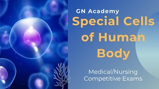 Special Cells of Human Body || Medical/Nursing Competitive Exams || GN Academy