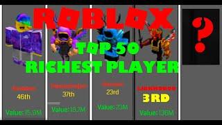 Top 50 Richest Roblox Players Comparison