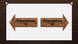 Possessive 's - Possessive Of (Sahiplik Ekleri)