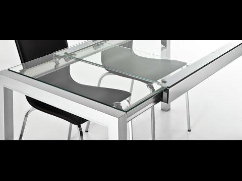 mesa cocina bibi pata extensible de Ondarreta cristal y ceramica