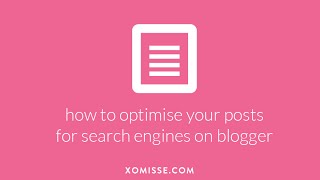 How to SEO your Blog Posts on Blogger