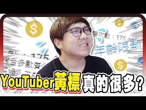黑羽-youtuber很容易中黃標嗎?沒想到黃標這麼多!?