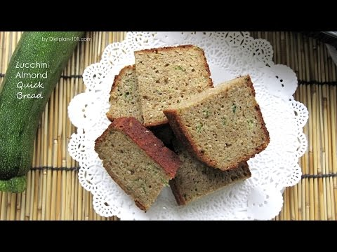 Video Zucchini Almond Quick Bread (Atkins Diet Phase 2) | Dietplan-101.com
