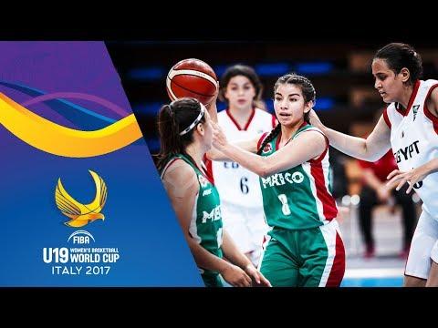Egypt v Mexico - Full Game - Classification 9-16 - FIBA U19 Women's Basketball World Cup 2017
