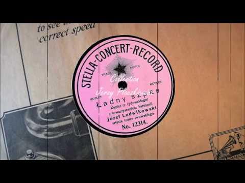 "Yiddish couplet ""Ładny szpas"" - Józef Ludwikowski, ca 1910 (74 rpm !)"