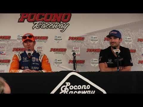 2019 IndyCar Pocono 500 Dixon and Rossi Q&A