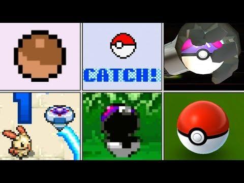 Evolution of Pokémon Catching Animations (1996 - 2017)