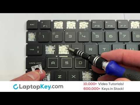 Replace Keyboard Key HP OMEN 15-DC | Fix Laptop Installation Repair 15T-DC 15T-DC000 15-DC0006LA