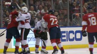 Thornton goes after Phaneuf who wants nothing to do with him