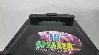 Колонка акумуляторная с микрофоном Meirende MR-206, 200W (USB/FM/Bluetooth) от компании ТехМагнит - видео