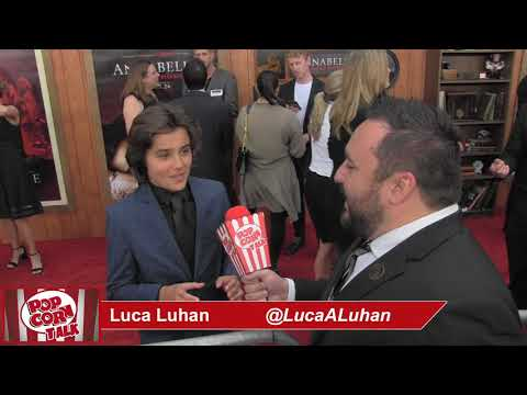 Popcorn Talk at the Annabelle Comes Home Red Carpet Premiere - Luca Luhan