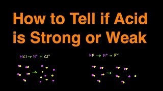 How to Determine if Acid is Strong or Weak Shortcut w/ Examples and Practice Problems