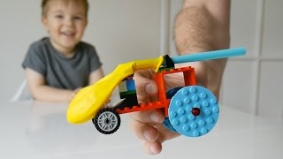 How To Make A Balloon Powered Car - TheDadLab Lego Birthday Party #3
