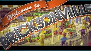 Werbung für Bricksonville Miniaturstadt