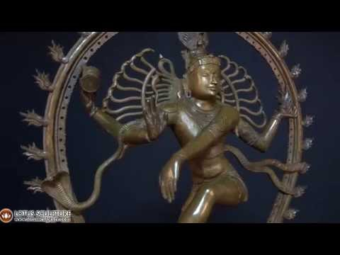 SOLD Bronze Nataraja Statue with Oval Arch 31