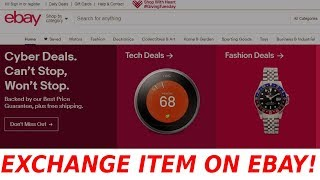 How to REQUEST EXCHANGE on eBay FAST and EASY 2018 & 2019!
